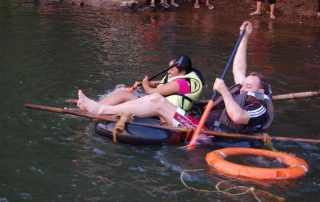Raft Building at Ecomantra Experiential Eco Camps & Resorts