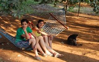 Relaxing in Hammocks at Ecomantra Experiential Eco Camp