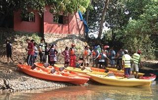Kayaking at Ecomantra Experiential Eco Camp