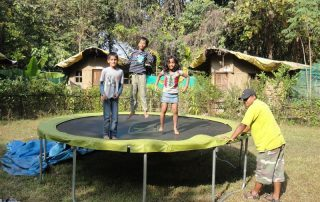 Trampoline for Kids at Ecomantra Experiential Eco Camps & Resorts